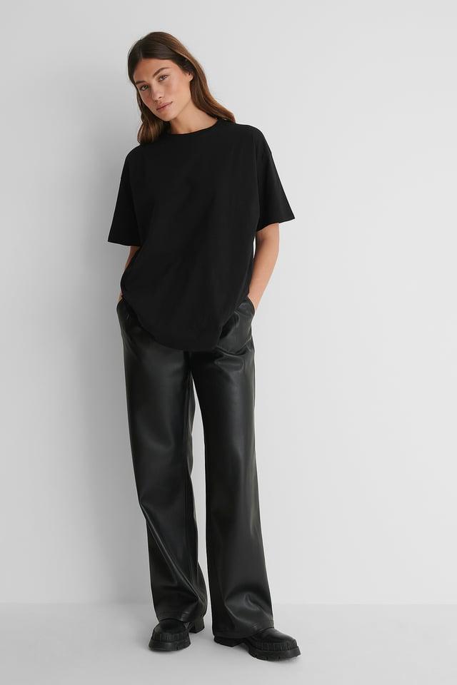 Black Organisch Oversized T-shirt