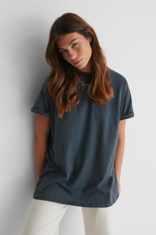 Off Black Organisch Oversized T-shirt