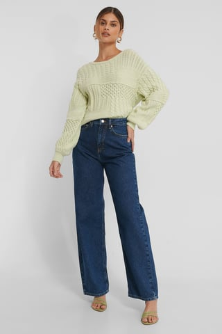 Mid Blue Organic Extra Wide Leg Denim