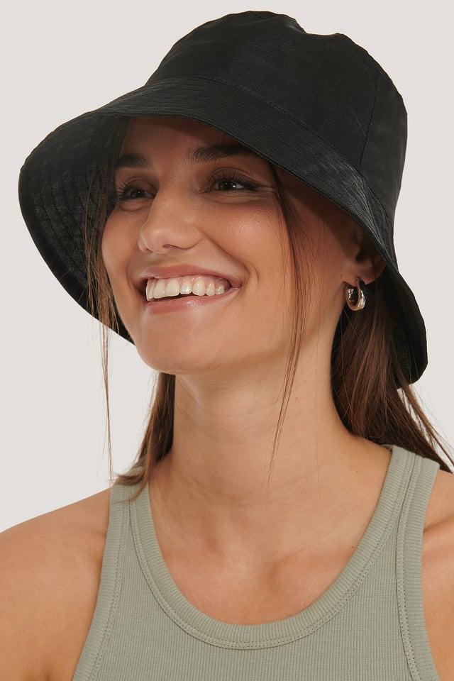 Organza Bucket Hat Black