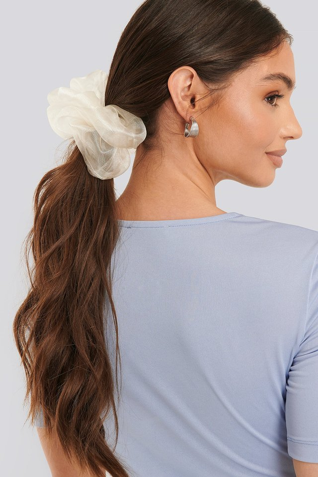 Organza Scrunchie White