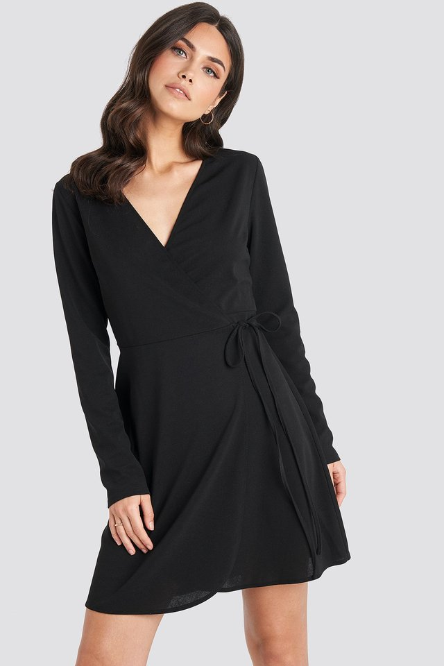 Overlap Dress Black