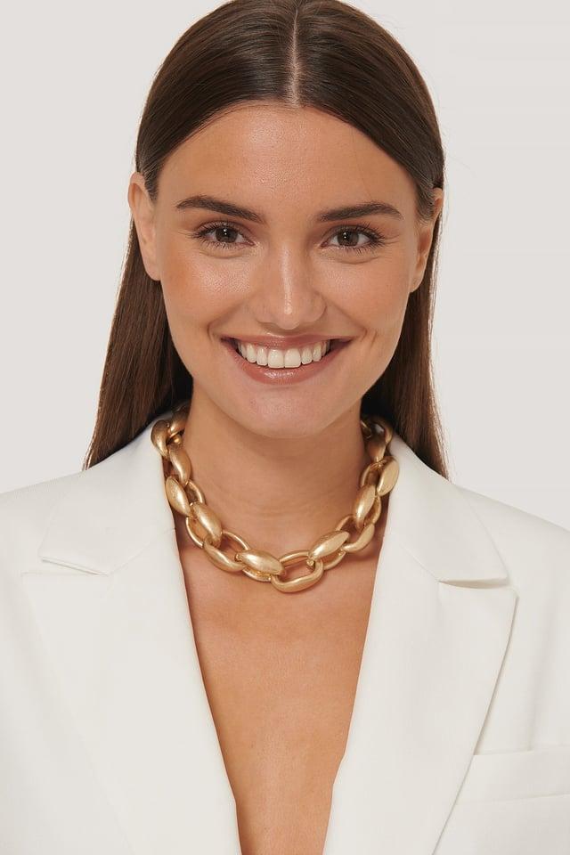 Übergroße Chubby Kette Halskette Gold