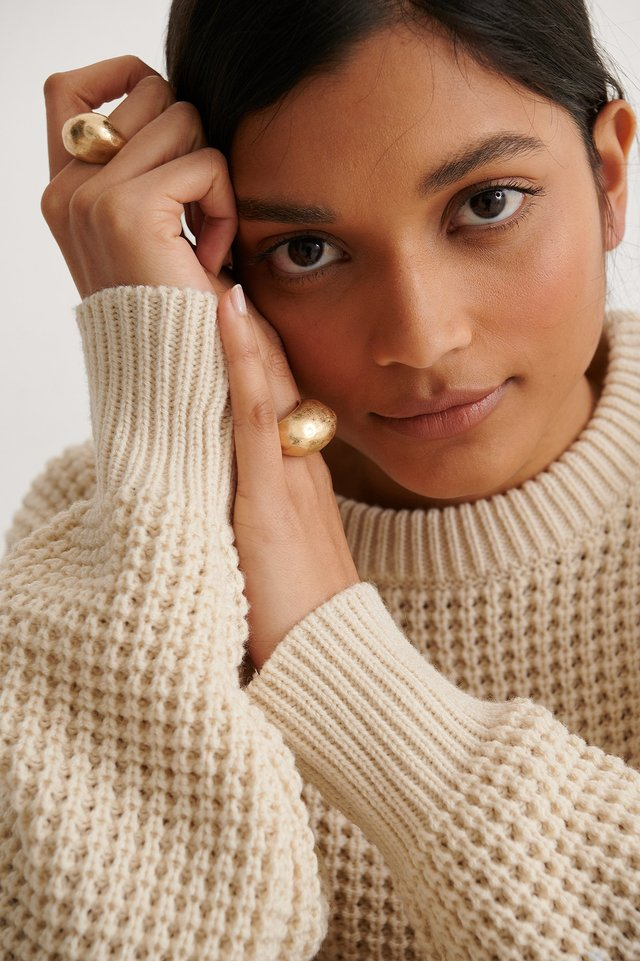 Gold Oversize Chubby Rings