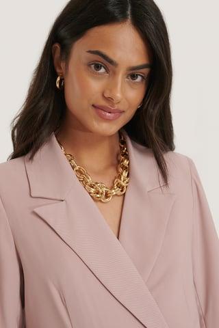 Gold Collar De Cadena Atrevido Oversize