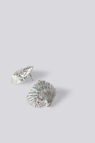 Silver Oversize Shell Earrings