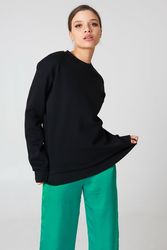 Oversized Basic Sweater Black