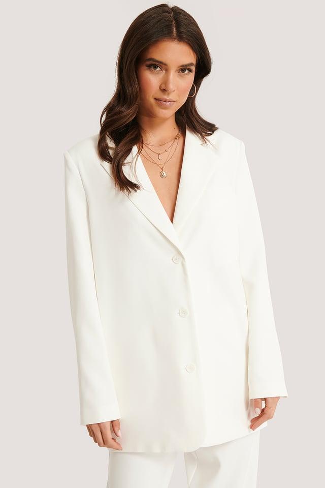 Oversized Blazer White