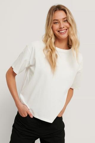 White Økologisk Oversized T-skjorte