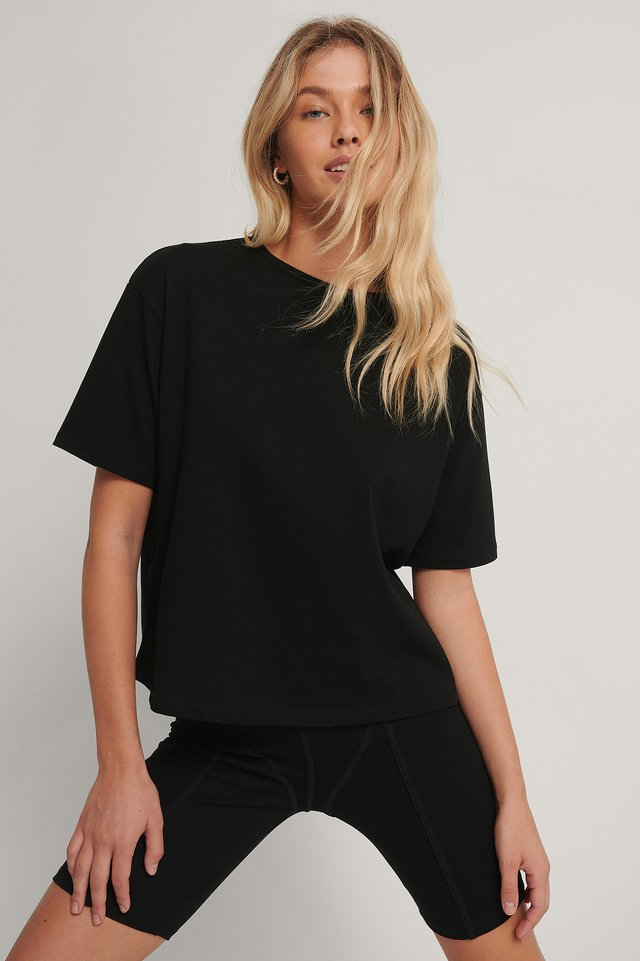 Black Oversized Boxy Tee