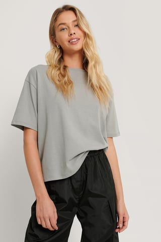 Grey Oversized Boxy Tee