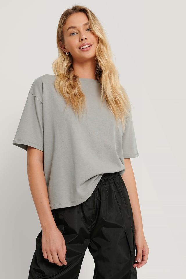 Grey Ekologisk Oversize T-shirt