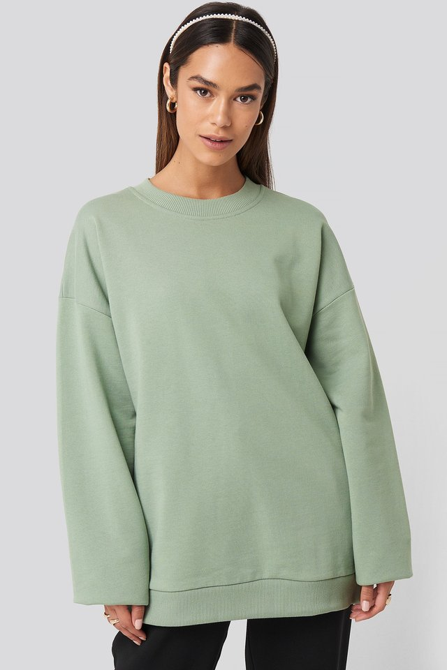 Oversized Crewneck Sweatshirt Light Petrol