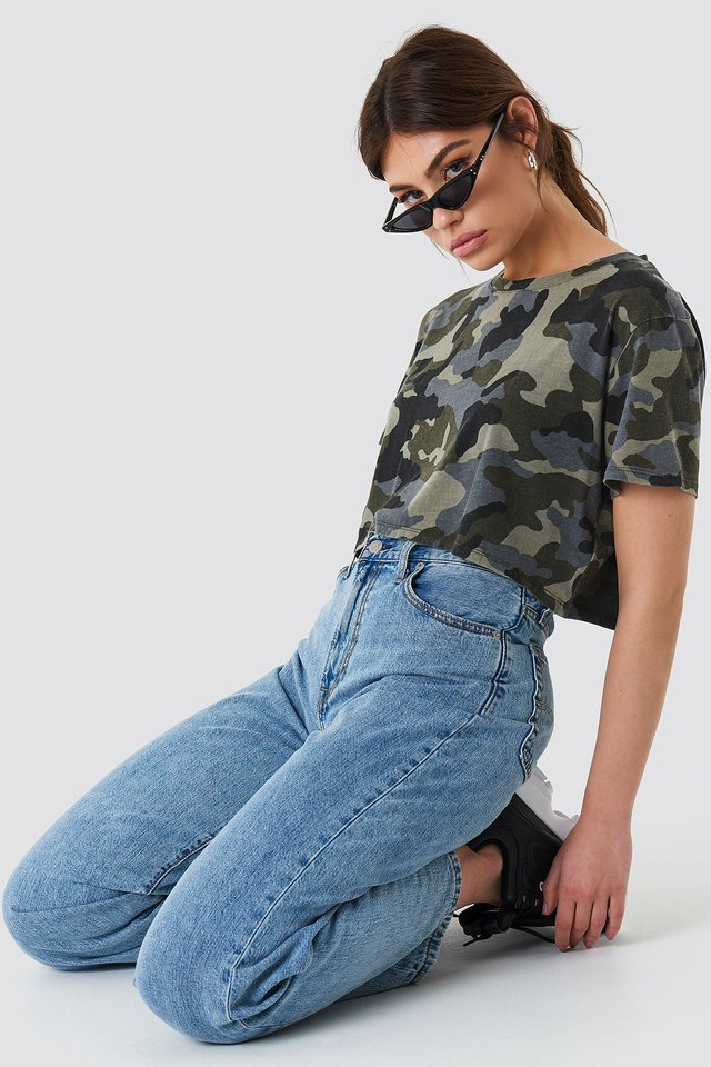 Oversized Cropped Army Army