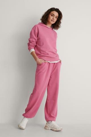 Pink Ekologiskt Sweatpants