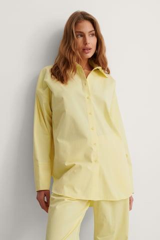 Cream Organic Oversized Dropped Shoulder Shirt