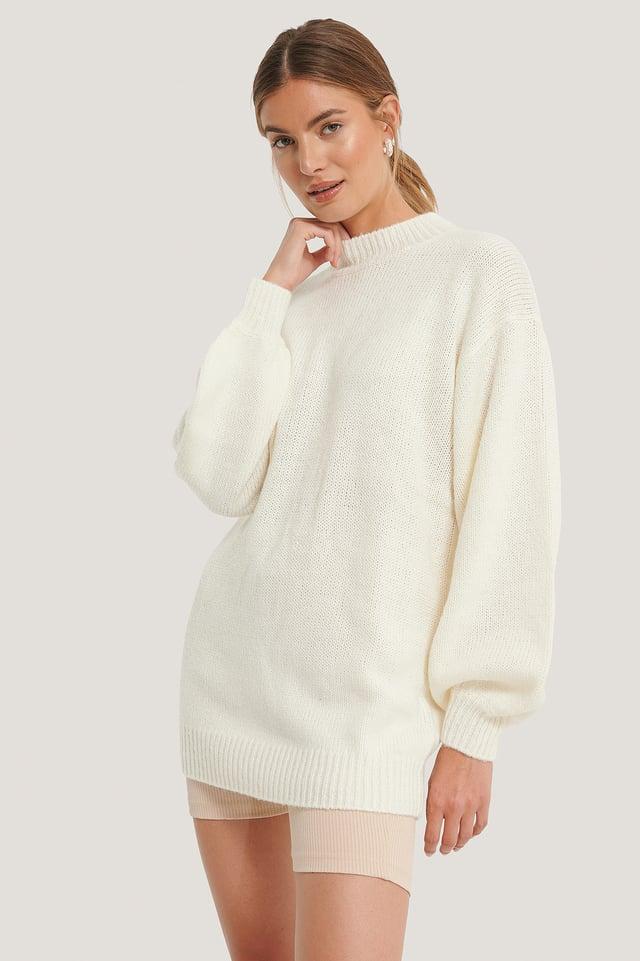 Luźny Długi Sweter Z Dzianiny NA-KD