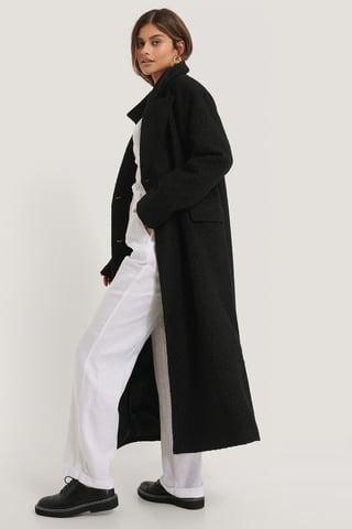 Black Oversized Jas