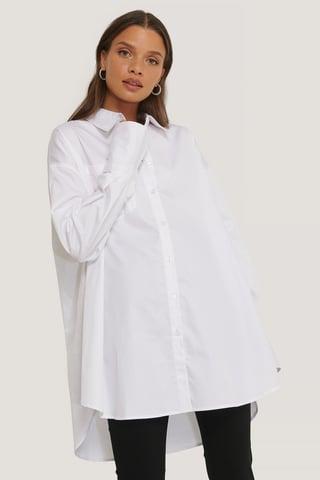 White Oversized Pocket Shirt