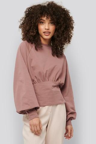 Dusty Dark Pink Oversized Raglan Sleeve Sweater