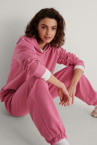 Pink Ekologisk Hoodie