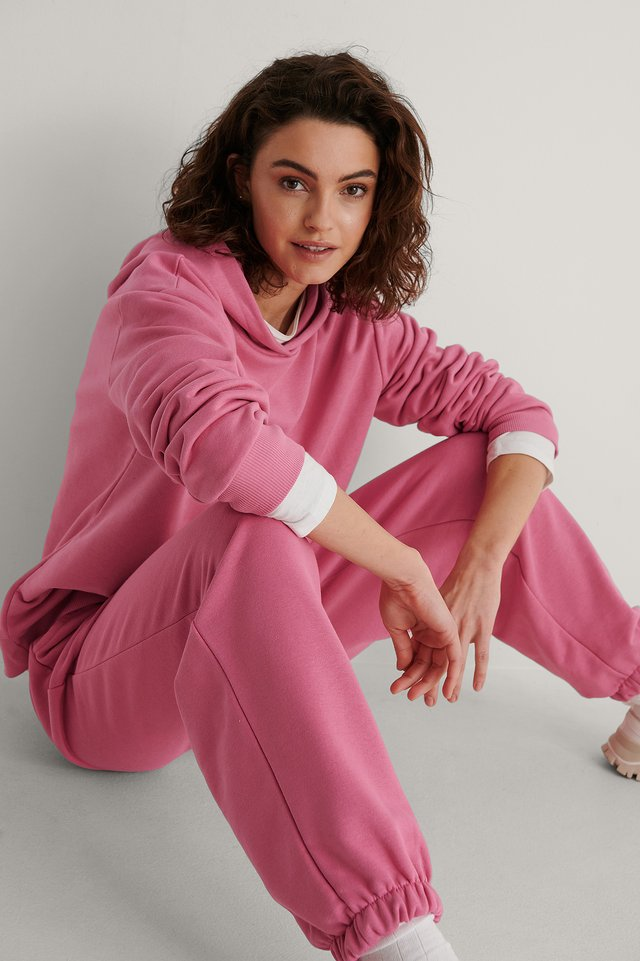 Pink Oversized Relaxed Hoodie