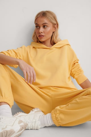 Yellow Oversized Relaxed Hoodie
