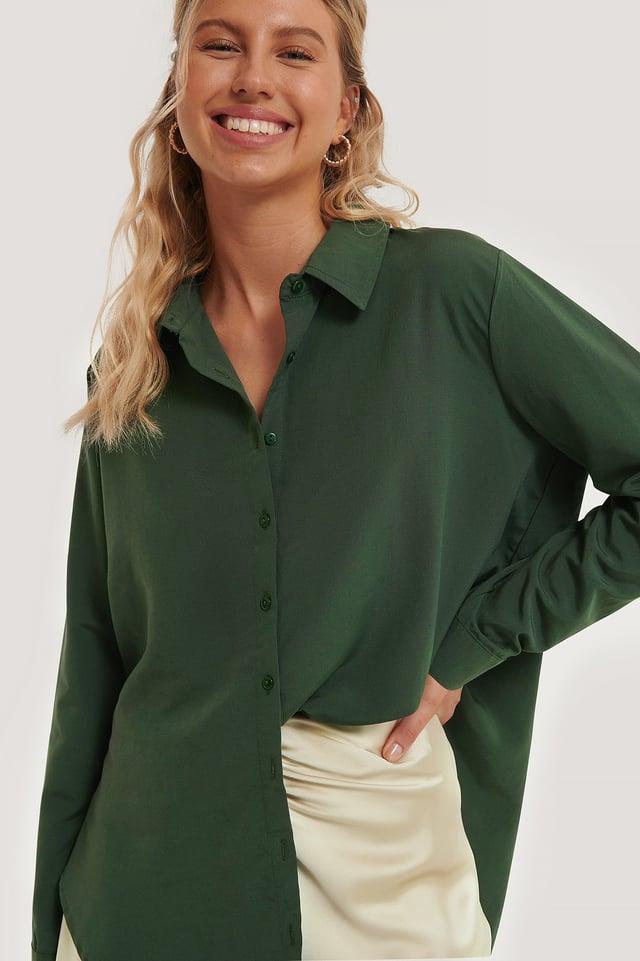 Green Oversized Skjørt