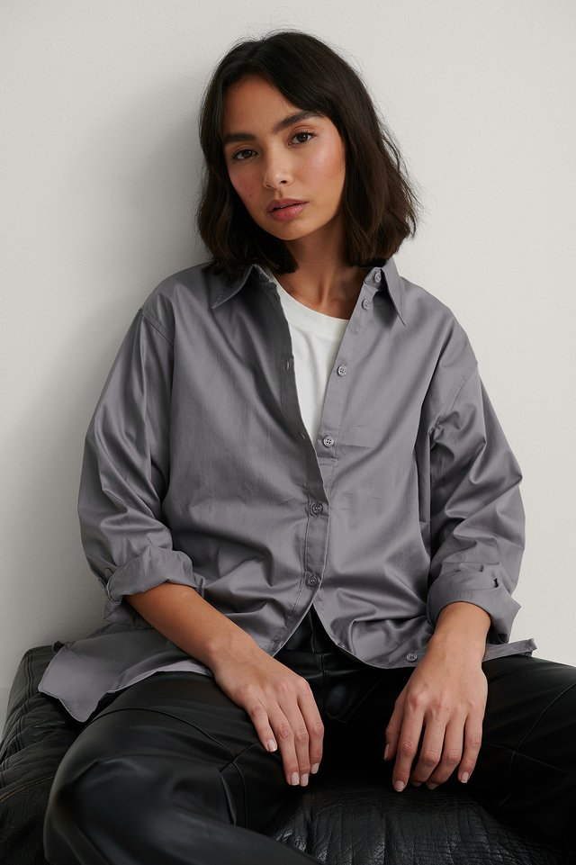 Oversized Shirt Grey