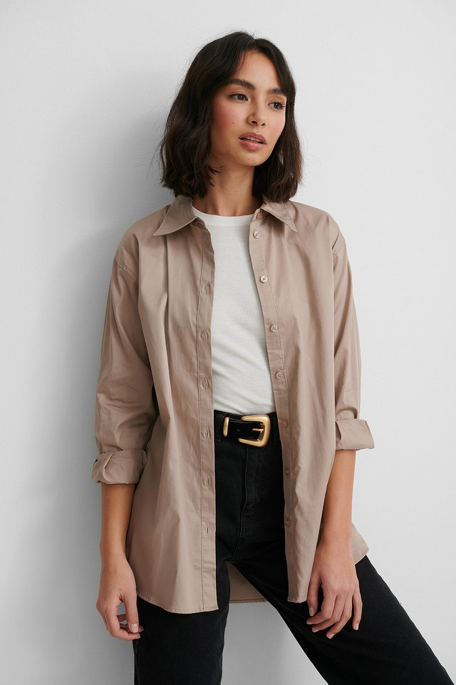 Oversized Shirt Taupe