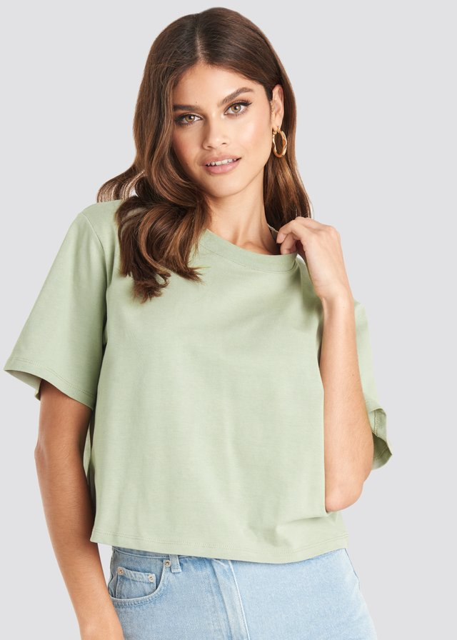 Light Green Oversized Short Tee