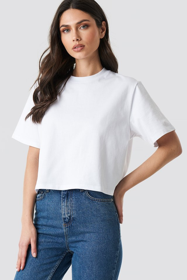 Oversized Short Tee White