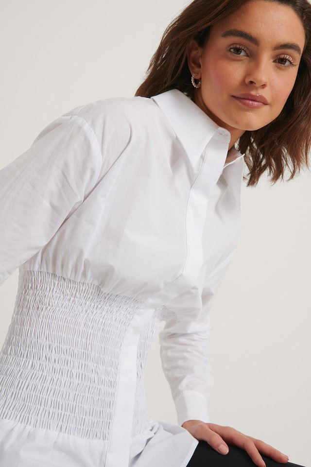 Recycled Oversize Skjorta White