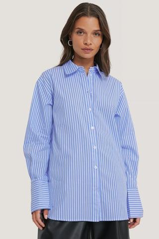 Light Blue/White Stripe Oversized Shirt