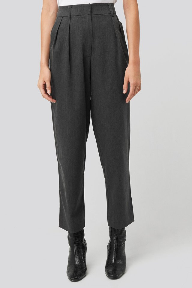 Oversized Suit Pants Dark Grey