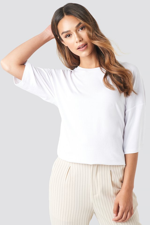 Oversized Viscose Tee White