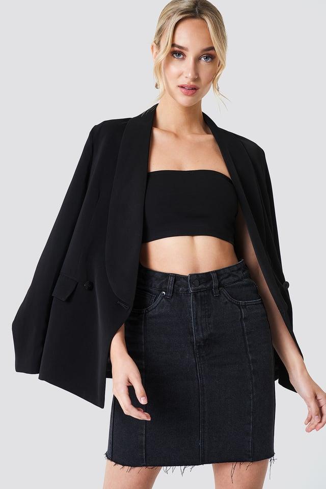 Black Panel Skirt