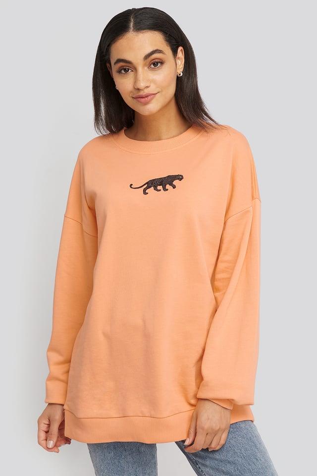 Panther Sweatshirt Peach