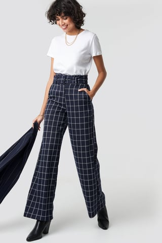 DK Navy Paperbag Suit Pants