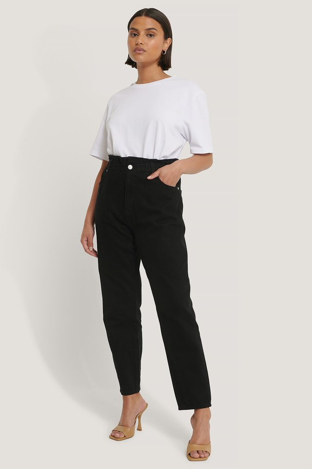 Paperwaist Jeans Black