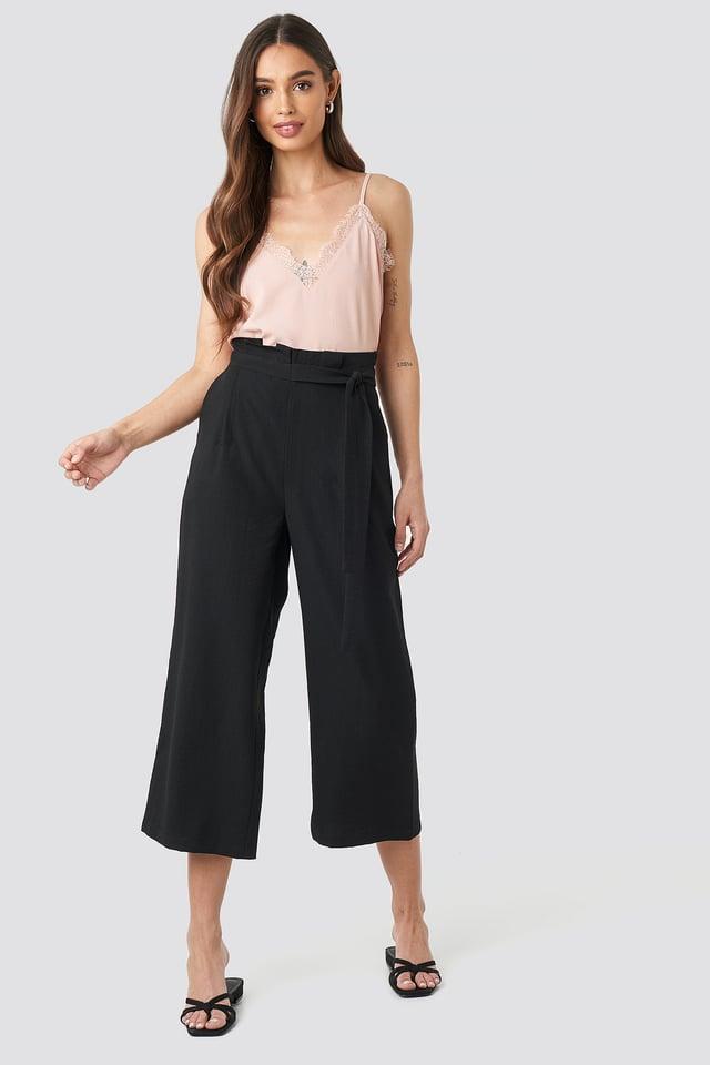 Paperwaist Self-Tie Pant Black