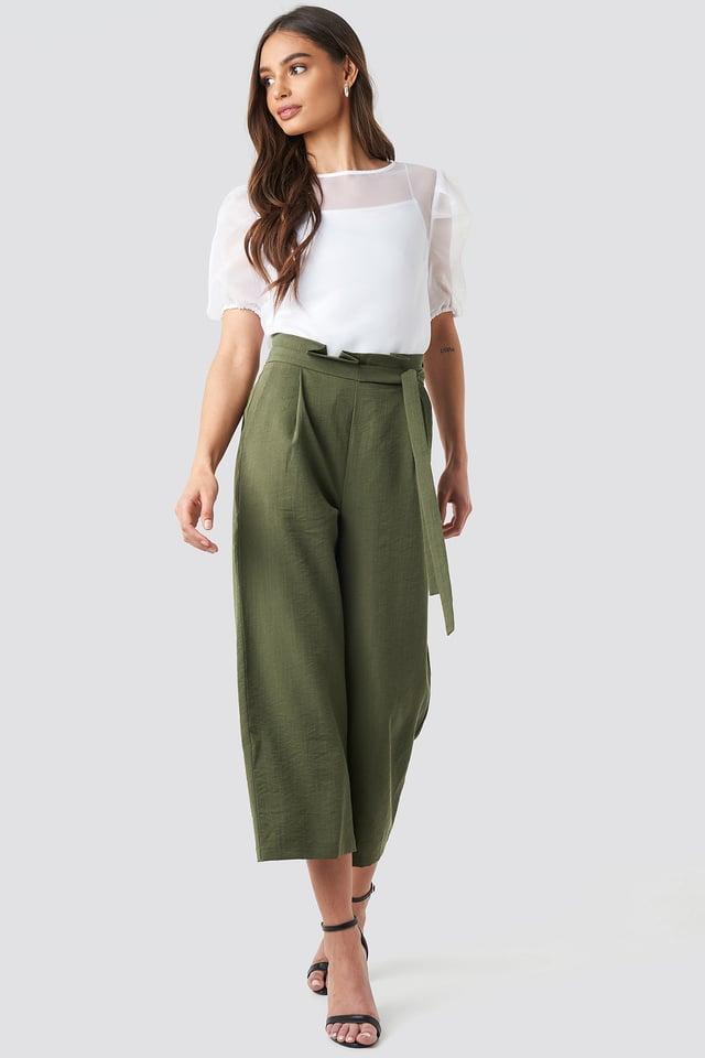 Paperwaist Self-Tie Pant Khaki