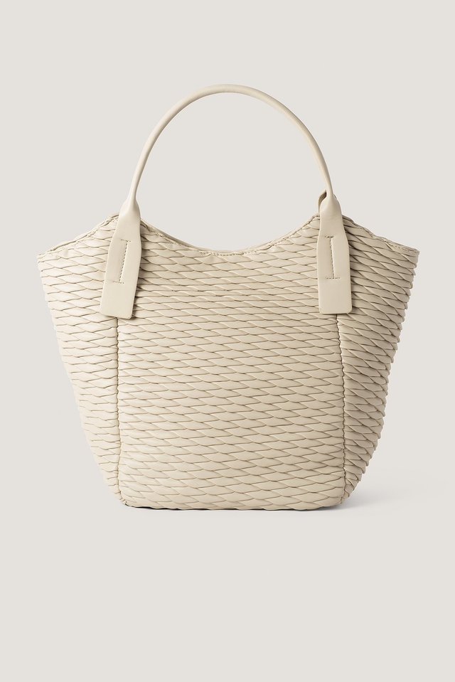Pattern Embossed Shopper Bag Latté