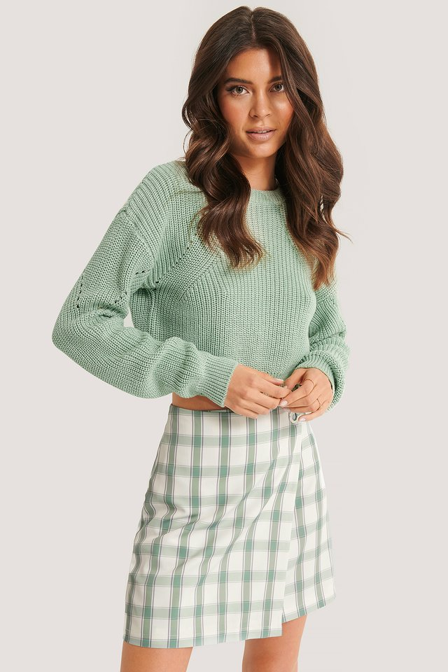 Muster Strickpullover Mint