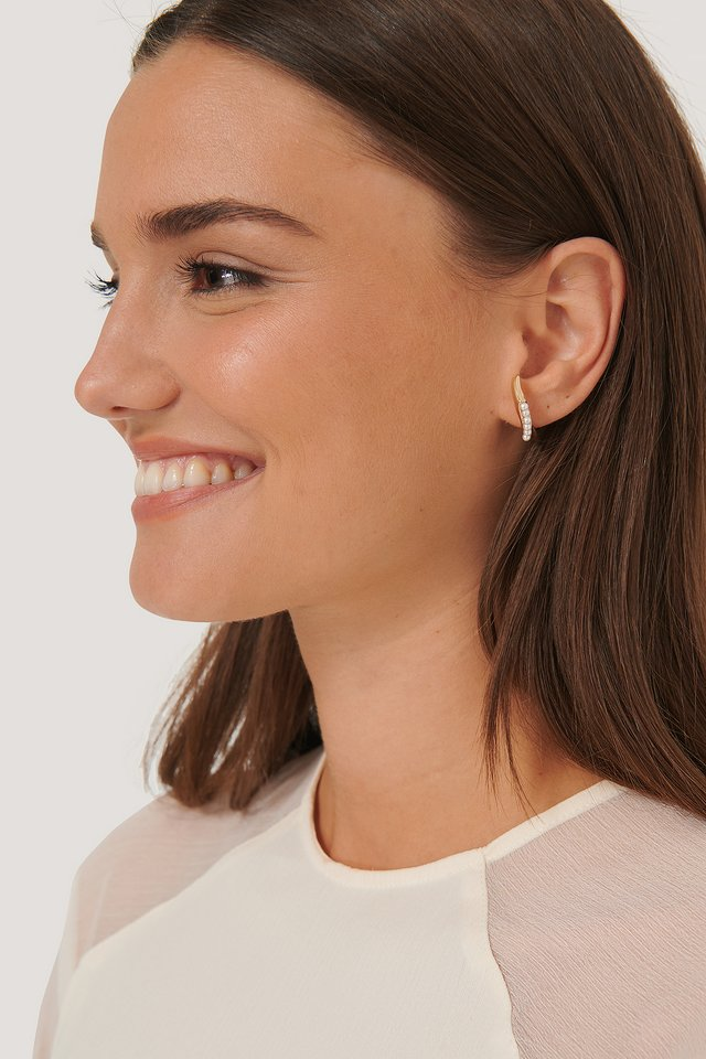 Pearl In-Ear Earrings Gold
