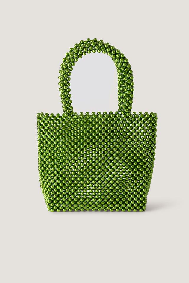Perlentasche Green
