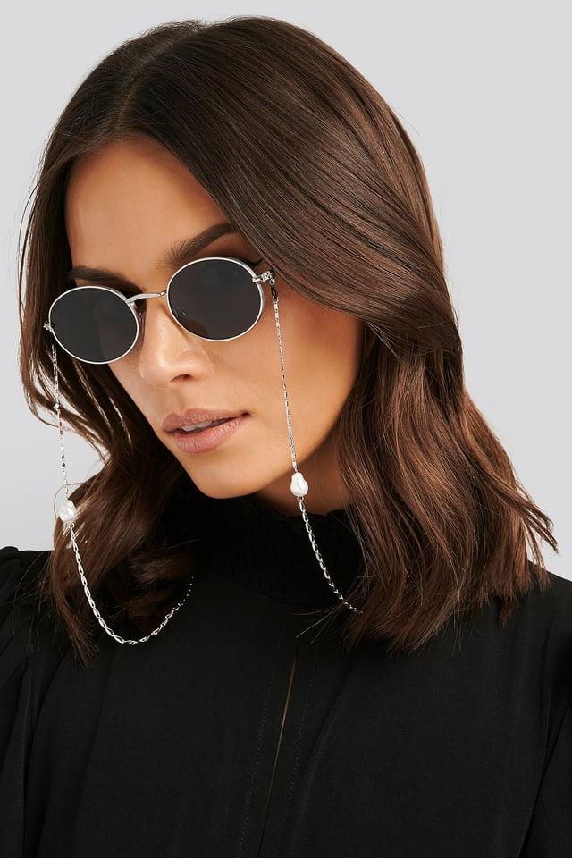 Pearl Sunglass Chain Silver