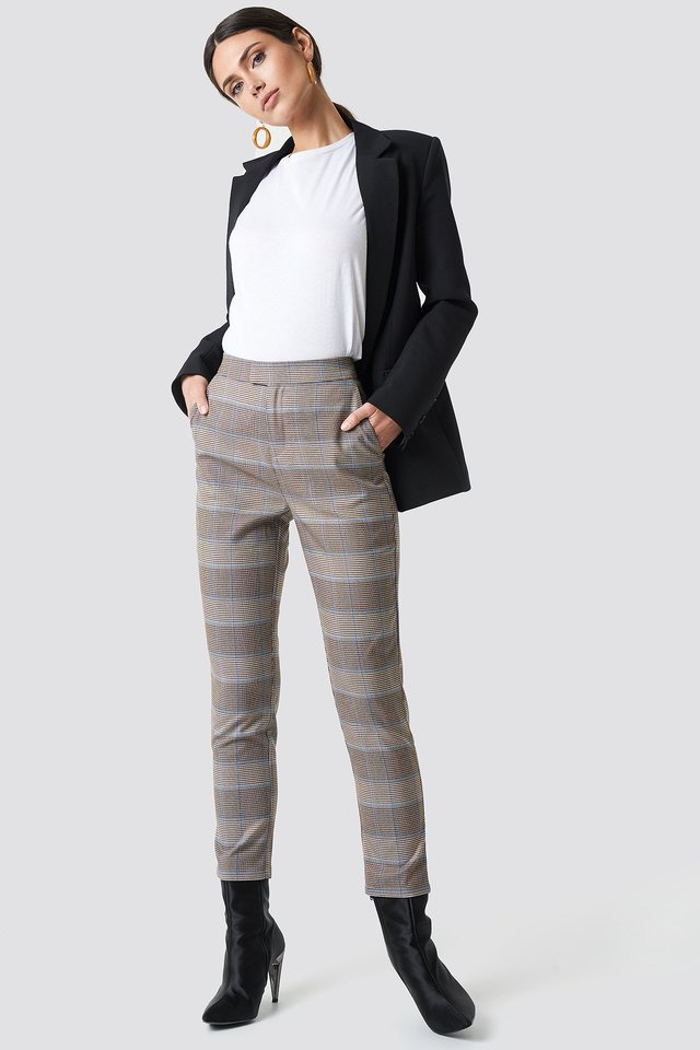 Plaid Suit Pants NA-KD Classic