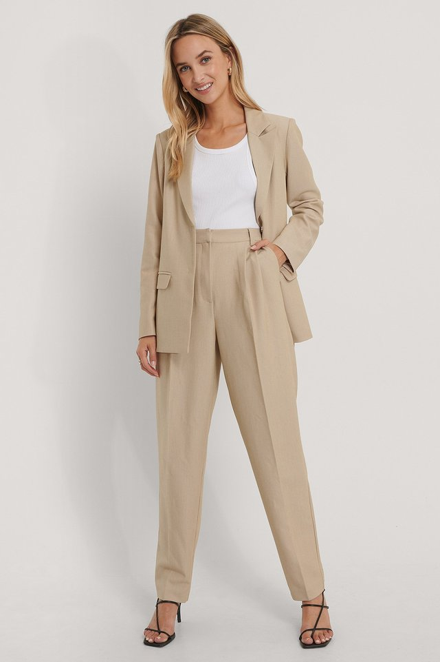 Pleat Detail Suit Pants The Fashion Fraction x NA-KD