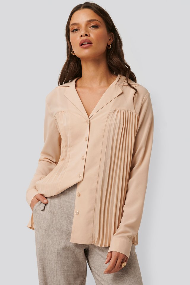 Pleated Blouse Pink